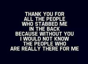 back stab