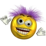 smiley purple crazy1
