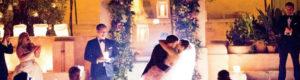 magical wedding kiss