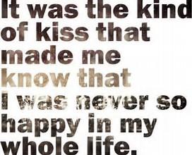 never so happy kiss