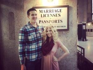 Katlyn & Matt at license center