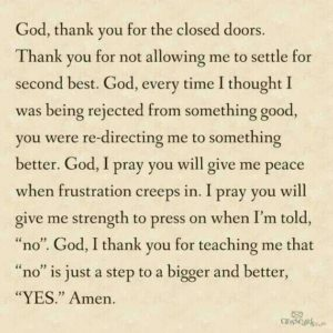 god says no